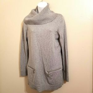 Michael Kors Gray Cowl Neck Sweater Size M H-9-E